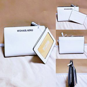 Michael Kors Jet Set Zip/Snap wallet & ID set 2pc